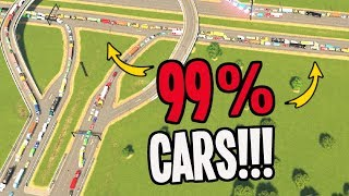 The Most Cars I've EVER seen in Cities Skylines!