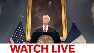WATCH LIVE: NYC Mayor de Blasio holds briefing