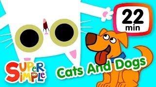 The Super Simple Show - Cats And Dogs | Kids Songs & Cartoons About Pets