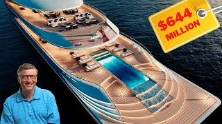 Bill Gates' $644 Million Hydrogen Powered Mega Yacht | Inside and Outside