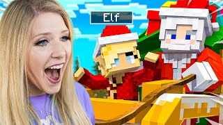 Playing Minecraft as a Helpful Christmas Elf!