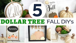 5 DOLLAR TREE FALL DIYs | Mystery Box Challenge July 2020