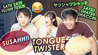 BATTLE TONGUE TWISTER INDONESIA VS JEPANG! SUSAHAN MANA?!