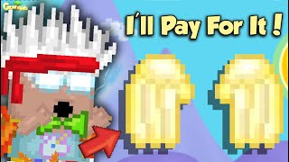 If You Build a Golden Angel, I'll Pay For It! | GrowTopia