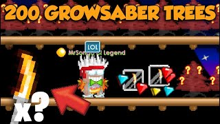 HARVESTING 200 GROWSABER TREES! (SUPER PROFIT) OMG!! | GrowTopia