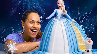 I made an ELSA CAKE for Disney Frozen 2! | How To Cake It With Yolanda Gampp