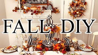 "🍁DIY FALL ELEGANT HIGH END DECOR DINING ROOM TABLESCAPE🍁""I Love Fall""ep 12 Olivias Romantic Home DIY"