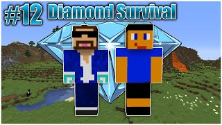 Diamond Survival #12 w/ Ethan - Trapping A Creeper In Walt's House! [PAY BACK]