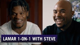 Lamar Jackson Opens up in Interview with Steve Smith | Baltimore Ravens