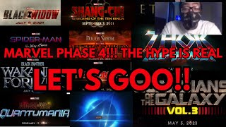 Reaction To - Marvel Phase 4! ( THE HYPE IS REAL! )