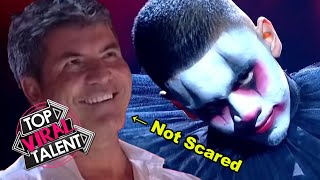 SIMON COWELL is NOT SCARED by these AMAZING CLOWN DANCE ACTS