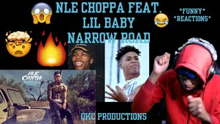 NLE Choppa Feat. Lil Baby - Narrow Road - Top Shotta - Official Audio - REACTION