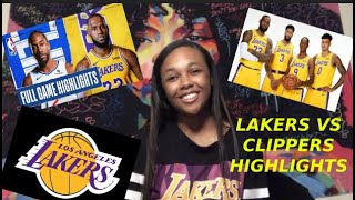 THE LAKERS FIRST REAL GAME BACK💜💛 !!! (Lakers vs Clippers highlights reaction)