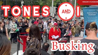 【4K UHD BEAUTIFUL MELBOURNE AUSTRALIA】 TONES AND I Busking In Melbourne City - Fly Away