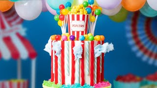 Carnival MEGA CAKE! | Cotton Candy, Popcorn, Lollipops... | How To Cake It