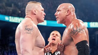 Every Brock Lesnar vs. Goldberg match: WWE Playlist