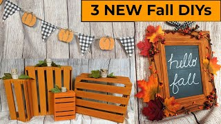 NEW Fall Farmhouse Dollar Tree Thrift Store DIYS #autumn leaves #woodcrate #pumpkindiy #hellofall