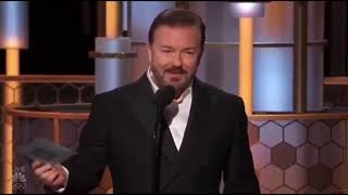Ricky Gervais - golden globes - the veil is being lifted
