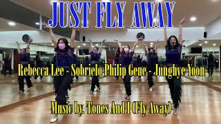 Just Fly Away - Line Dance (Demo). Choreo by. Rebecca Lee, Sobrielo Philip Gene, Junghye Yoon