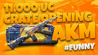 $11000 Uc | AKM Level 4 | Funny Crate Opening | Zalmi gaming