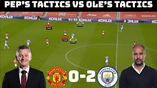 Tactical Analysis: Manchester United 0-2 Manchester City | How Pep Beat Ole |