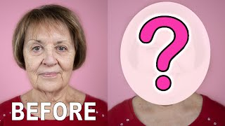GIVING MY 50+ NEIGHBOR A MAKEOVER! | Makeup Tutorial For Mature Skin | How To Look Good At Any Age