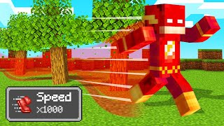 MINECRAFT But RUNNING Is 1000x FASTER! (Insane)