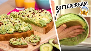 GIANT Avocado Toast... But It's CAKE | New Year Resolutions | How To Cake It