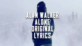 Alan Walker - Alone (Restrung) Lyrics | Original Lyrics | Alan Walker New Song 2017