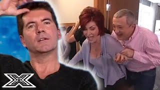 FUNNIEST X Factor Moment Ever?! Sharon Osbourne WALKS INTO A DOOR | X Factor Global