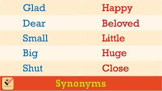 Synonyms : 230+ Important words in English | Similar words | Vocabulary | Alternative words