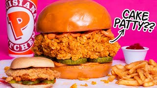 GIANT 10 LB Popeyes Chicken Sandwich... But It's CAKE! | How To Cake It with Yolanda Gampp