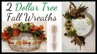 Dollar Tree Fall Decor 2020/2 Fall Wreaths/Farmhouse Decor