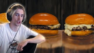 xQc reacts to 3 Insane CHEESEBURGER Recipes (with chat)