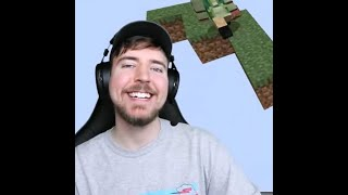 MrBeast allowing someone to live - Minecraft, But It's Only One Block!
