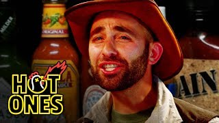 Coyote Peterson Gets STUNG by Spicy Wings | Hot Ones