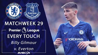 Every Billy Gilmour touch from Chelsea's win against Everton | Premier League | NBC Sports