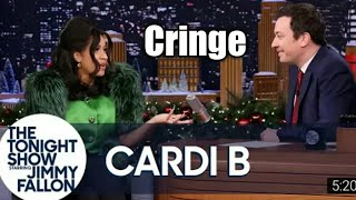 Jimmy Interviews Cardi B but its only the cringey parts