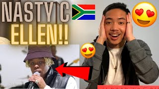 Nasty C On The Ellen Show 🇿🇦🔥 Black and White Performance ft Ari Lennox AMERICAN REACTION! *AMAZING*