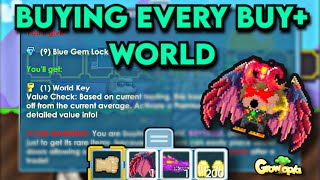 Buying Every Buy+ Worlds | GrowTopia