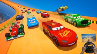 Ring Race All Cars McQueen VS The King Chick Hicks Francesco Bernoulli Winford Rutherford & Friends
