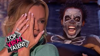 You Have To See These TOP 3 SCARY CONTORTIONISTS that TERRIFIED THE JUDGES!