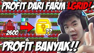 Nunjukin Profit Dari Full Farm Laser Grid, Profit 2x Lipat??  | Growtopia | Indonesia