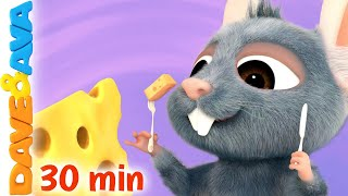 🐭 Three Blind Mice and More Nursery Rhymes and Kids Songs | Dave and Ava 😄