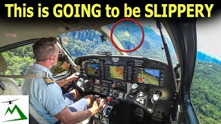 Landing a Kodiak Airplane on a Slippery Mountain Runway | Bush Pilot Flight Vlog