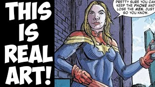 Captain Marvel defeats men! Marvel Comics dares Disney to cut them!