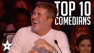 TOP 10 Funniest Comedians That Made SIMON COWELL Laugh on AGT & BGT | Got Talent Global