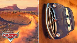 Doc Hudson Races Through Willy's Butte | Pixar Cars