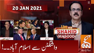 Live with Dr. Shahid Masood | GNN | 20 JAN 2021