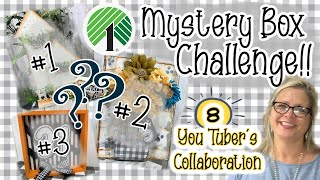 ☀️🌳Dollar Tree Mystery Box Challenge || Collaboration with 8 You Tubers 🌳☀️
